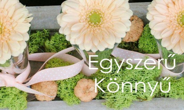 Virágos asztaldísz készítése mini gerberákkal – egyszerűen, könnyen